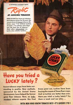 [Lucky Strike ad from back cover]