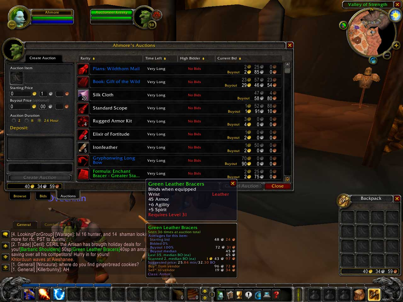 The World of Warcraft auction house